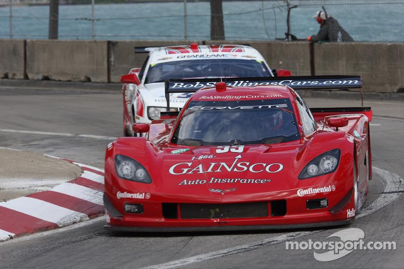 #99 Bob Stallings Racing Corvette DP: Jon Fogarty, Alex Gurney #57 Stevenson Motorsports Camaro GT.R: John Edwards, Robin Liddell