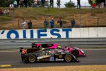 #31 Lotus Lola B12/80 Coupe Lotus: Thomas Holzer, Mirco Shultis, Luca Moro and #35 Oak Racing Morgan Nissan: David Heinemeier Hansson, Bas Leinders, Maxime Martin