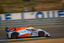 #28 Gulf Racing Middle East Lola B12/60 Coupe Nissan: Fabien Giroix, Ludovic Badey, Stefan Johansson
