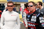 Drivers and media kart challenge at Circuit Alain Prost: Tom Kristensen and Martin Brundle