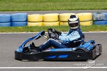 Drivers and media kart challenge at Circuit Alain Prost: Richard Lietz