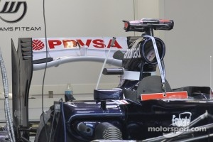 Pastor Maldonado, Williams F1 Team with a new rear wing