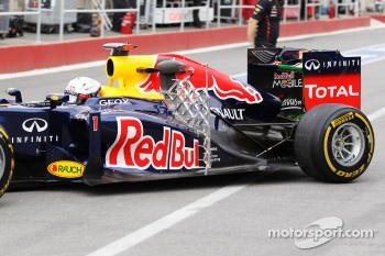Sebastian Vettel, Red Bull Racing with sensor equipment