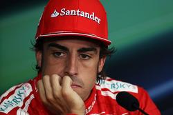 Fernando Alonso, Scuderia Ferrari in the post qualifying FIA Press Conference