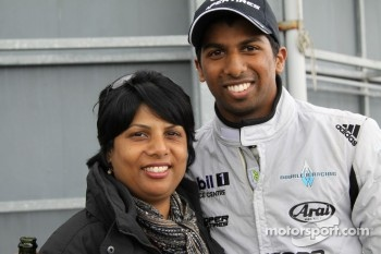Duvashen Padayachee and his mother