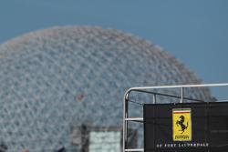 Expo 67 american pavilion with Ferrari logo