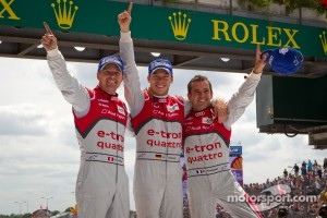 2012 Race winners Marcel Fässler, Andre Lotterer and Benoit Tréluyer