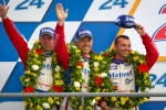 LMGTE Am podium: second place Anthony Pons, Raymond Narac, Nicolas Armindo