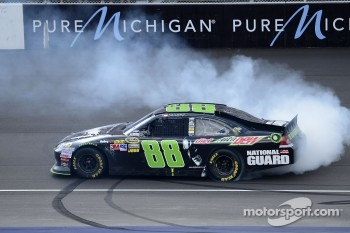 Race winner Dale Earnhardt Jr., Hendrick Motorsports Chevrolet celebrates