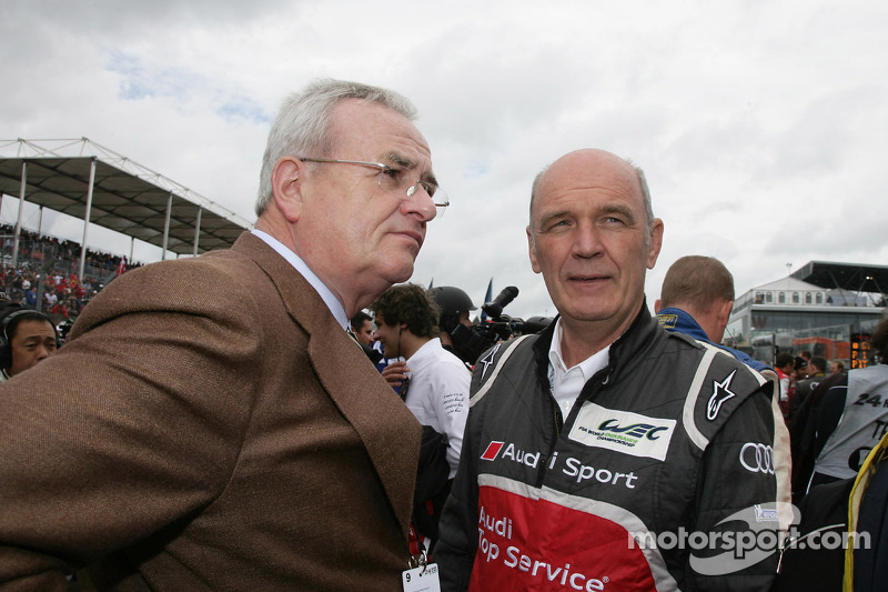 Dr. Martin Winterkorn, Volkswagen AG and Dr. Wolfgang Ullrich, Audi's Head of Motorsport