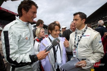 Eurosport team with Vincent Cerutti and Vanina Ickx