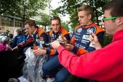 Bertrand Baguette, Franck Montagny and Dominik Kraihamer