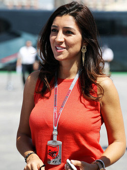 Fabiana Flosi, fiiance of Bernie Ecclestone, CEO Formula One Group