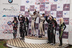 P1 podium: winners Lucas Luhr, Klaus Graf, second place Michael Marsal, Eric Lux, third place Guy Smith, Chris Dyson