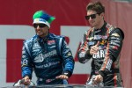 Alex Tagliani and J.R. Hildebrand