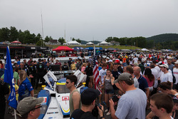 Dark clouds for fan walk at Lime Rock