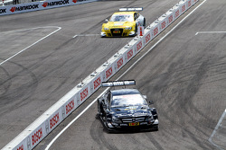Sunday Round of 16 Gary Paffett, Team HWA AMG Mercedes, AMG Mercedes C-Coupe against Rahel Frey, Audi Sport Team Abt Audi A5 DTM