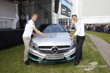 Michael Schumacher and Nico Rosberg, Mercedes AMG F1