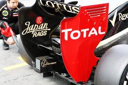 Kimi Raikkonen, Lotus F1 rear wing detail