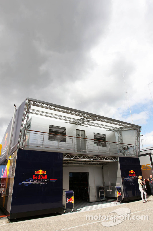 Red Bull Racing Comms Unit with some dark clouds hanging over it