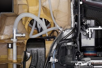 A cutaway view of the fuel cell in the Sauber F1.08