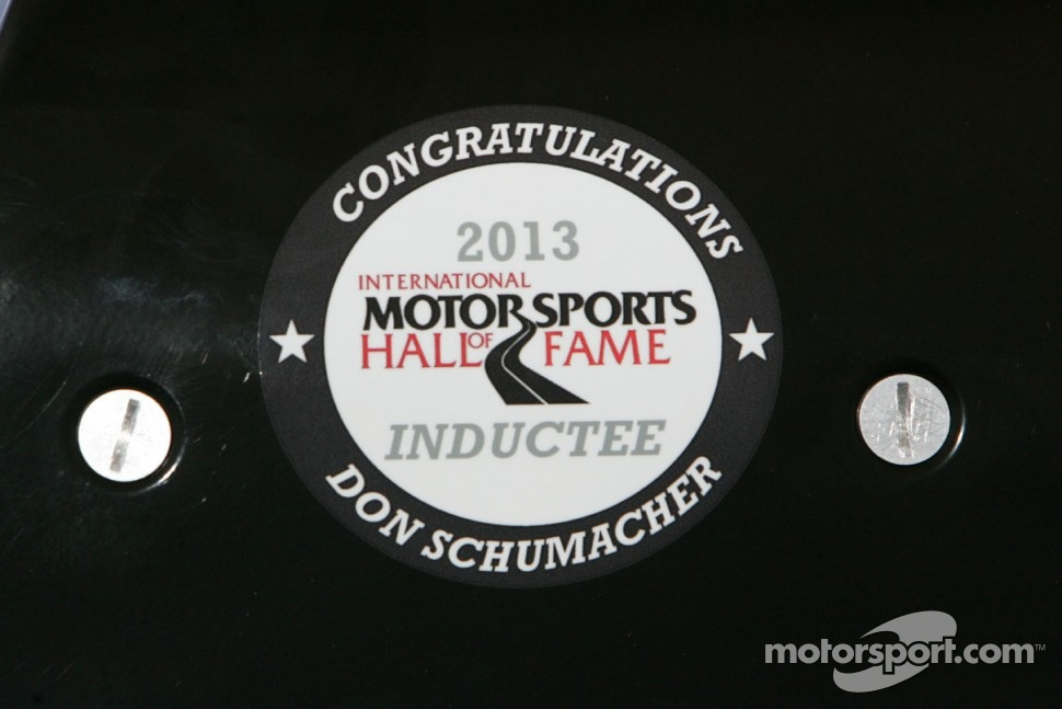 Don Schumacher sticker on Antron Brown's Top Fuel Dragster