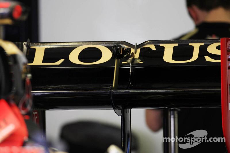 Lotus F1 Team rear wing