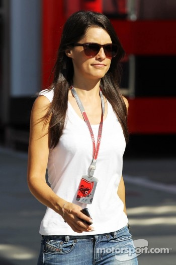 Marion Jolles Grosjean, TF1 TV Presenter, wife of Romain Grosjean, Lotus F1 Team