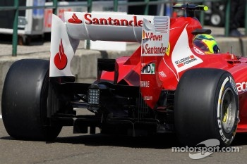 Felipe Massa, Ferrari rear wing detail