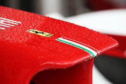 Rain drops on the Ferrari nosecone