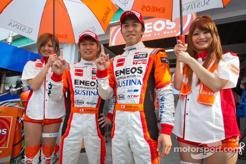 GT500 pole winners Kazuya Oshima and Daisuke Ito