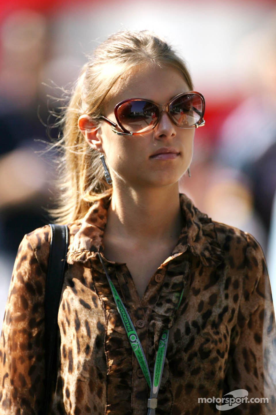 Dasha Kapustina, girlfriend of Fernando Alonso, Scuderia Ferrari