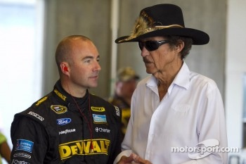 Marcos Ambrose and Richard Petty