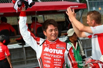 Michael Krumm and Satoshi Motoyama, second fastest in GT500 qualifying