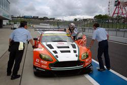 GT300 pole winner Kazuki Hoshino