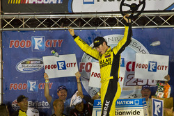 Victory lane: race winner Joey Logano
