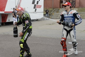 Podium: second place Jorge Lorenzo, Yamaha Factory Racing, third place Cal Crutchlow, Yamaha Tech 3