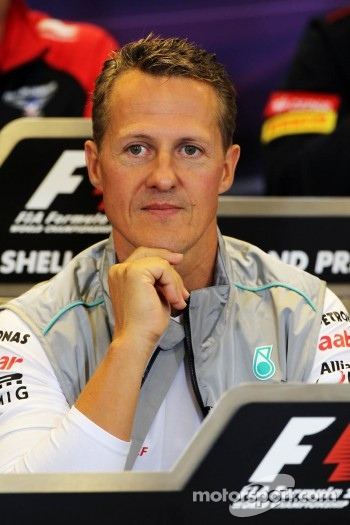 Michael Schumacher, Mercedes AMG F1 in the FIA Press Conference