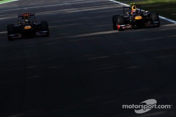 Sebastian Vettel, Red Bull Racing and team mate Mark Webber, Red Bull Racing