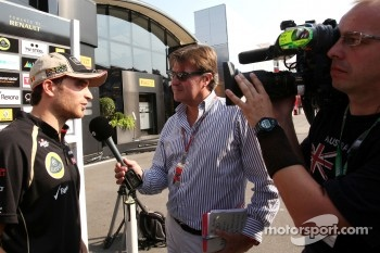 Jerome d'Ambrosio,, Lotus F1 Team with the Belgian TV RTBF1