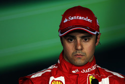 Third placed Felipe Massa, Ferrari in the post qualifying FIA Press Conference