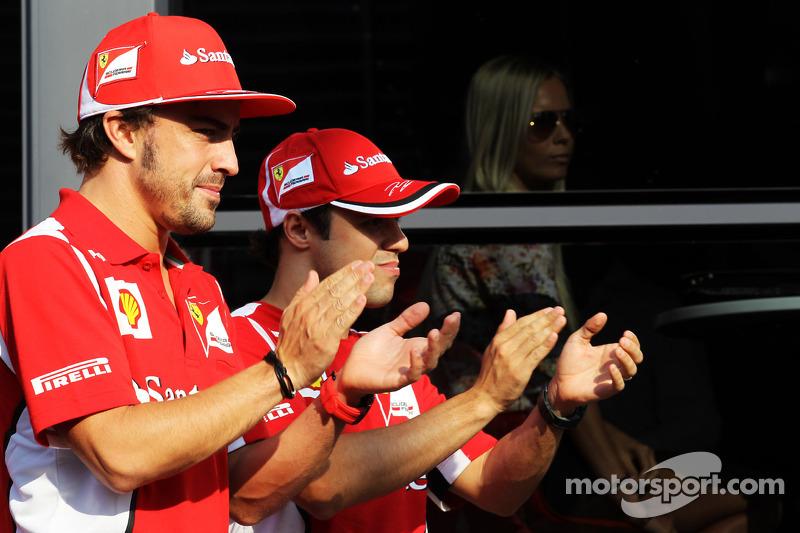 Fernando Alonso, Ferrari with Felipe Massa, Ferrari