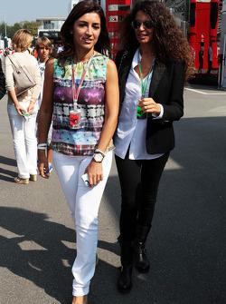 Women in paddock