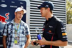 Mikko Hirvonen, Rally Driver with Sebastian Vettel, Red Bull Racing