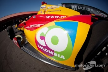 Car of Sebastian Saavedra, AFS Racing/Andretti Autosport Chevrolet, detail