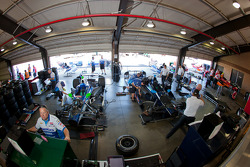 KV Racing Technology Chevrolet garage area