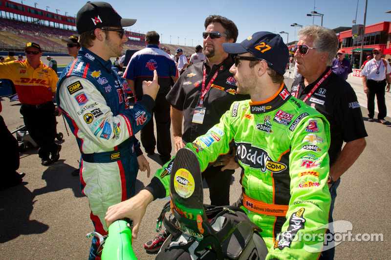 Ryan Hunter-Reay, Andretti Autosport Chevrolet and James Hinchcliffe, Andretti Autosport Chevrolet with Michael Andretti and Mario Andretti