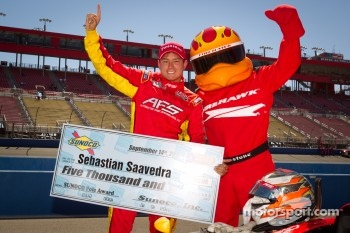 Pole winner Sebastian Saavedra, AFS Racing