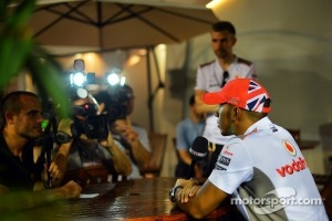 Lewis Hamilton in Singapore this week.