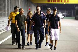 Bruno Senna, Williams walks the circuit